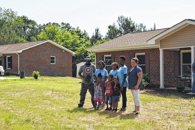 Anson Record Usda Habitat Team Up To Build Polkton Homes